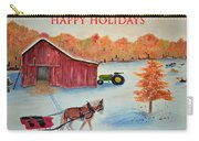 Happy Holidays Card Carry-all Pouch