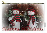 Happy Holidays - Christmas - Snowman Collection - Greeting Cards Carry-all Pouch