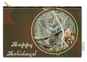 Happy Holidays Greeting Card - Gray Squirrel Carry-all Pouch