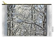 Happy Holidays Greeting - Icicles On Trees Carry-all Pouch