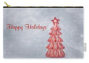 Happy Holidays Carry-all Pouch by Kim Hojnacki