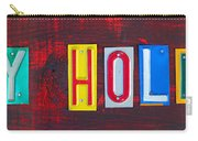Happy Holidays License Plate Art Letter Sign Carry-all Pouch