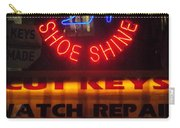 Happy Holidays - Neon Of New York - Shoe Repair - Holiday And Christmas Card Carry-all Pouch
