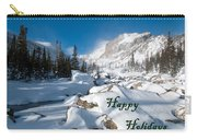 Happy Holidays Snowy Mountain Scene Carry-all Pouch