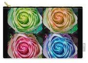 Happy Mothers Day Hugs Kisses And Colorful Rose Spirals Carry-all Pouch