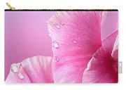 Happy Mother's Day Macro Pink Rose Petals Carry-all Pouch