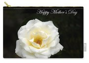 happy Mother's Day White Rose Carry-all Pouch
