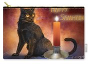 Happy Samhain Kitten And Candle Carry-all Pouch