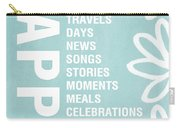 Happy Things Blue Carry-all Pouch
