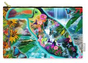 Happy Toucan Carry-all Pouch by Alixandra Mullins