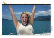 Happy Woman On Holiday  Carry-all Pouch