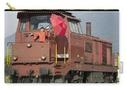 Happy Woman Standing On Train Carry-all Pouch