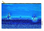 Harbor Of Refuge Lighthouse And Sailboat Abstract Carry-all Pouch