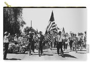 Hard Hat Pro-viet Nam War March Saluting Cops Tucson Arizona 1970 Black And White Carry-all Pouch