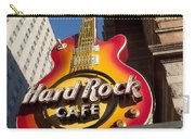 Hard Rock Cafe Guitar Sign In Philadelphia Carry-all Pouch