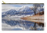 Hardy Fishermen Deer Creek Reservoir And Timpanogos In Winter Carry-all Pouch
