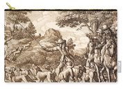 Hare Hunting, Engraved By Wenceslaus Carry-all Pouch
