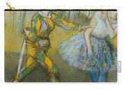 Harlequin And Columbine Carry-all Pouch by Edgar Degas