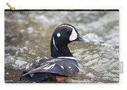 Harlequin Duck In Rapids Carry-all Pouch