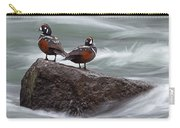 Harlequin Ducks At Lehardy Rapids Carry-all Pouch