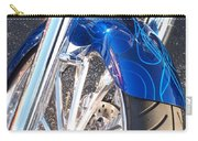 Harley Close-up Blue Flame  Carry-all Pouch