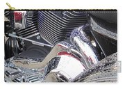 Harley Close-up Blue Lights Carry-all Pouch