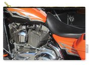 Harley Close-up Orange 1 Carry-all Pouch