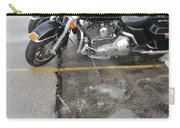 Harley Close-up Rain Reflections Wide Carry-all Pouch