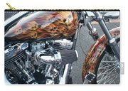 Harley Close-up Skull Flame  Carry-all Pouch