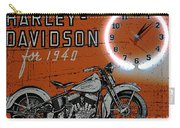 Harley Davidson 1940s Sign Carry-all Pouch