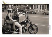 Harley Davidson Black And White Carry-all Pouch