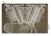 Harley Davidson Engine Carry-all Pouch by Dan Sproul