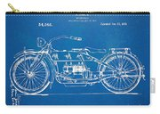 Harley-davidson Motorcycle 1919 Patent Artwork Carry-all Pouch by Nikki Marie Smith