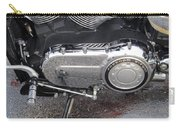 Harley Engine Close-up Yellow Line Carry-all Pouch