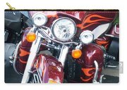 Harley Red W Orange Flames Carry-all Pouch