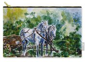 Harnessed Horses Carry-all Pouch