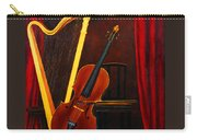 Harp And Cello Carry-all Pouch