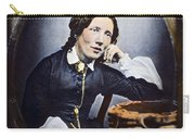 Harriet Beecher Stowe (1811-1896). American Abolitionist And Writer. Oil Over A Daguerrotype, C1852 Carry-all Pouch