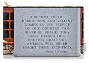 Harry S Truman Quote Memorial Carry-all Pouch