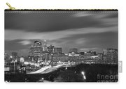 Hartford Skyline At Night Bw Black And White Carry-all Pouch