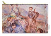 Harvesters Breakfast Carry-all Pouch by Pierre-Auguste Renoir