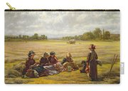 Harvesters Resting In The Sun, Berkshire, 1865 Oil On Canvas Carry-all Pouch