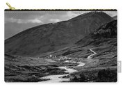 Hatcher's Pass In Black And White Carry-all Pouch