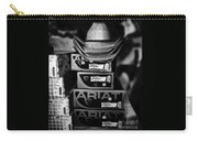 Hats Or Boots Bw Carry-all Pouch