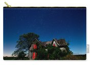 Haunted Farmhouse At Night Carry-all Pouch by Cale Best