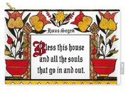 Haus Segen-house Blessing Carry-all Pouch