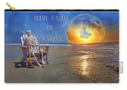 Have Faith In Karma Carry-all Pouch by Betsy Knapp