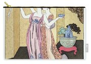 Have You Had A Good Dinner Jacquot? Carry-all Pouch by Georges Barbier
