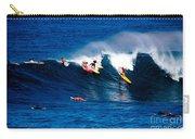 Hawaii Oahu Waimea Bay Surfers Carry-all Pouch by Anonymous