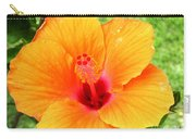 Hawaii Orange Hibiscus Carry-all Pouch